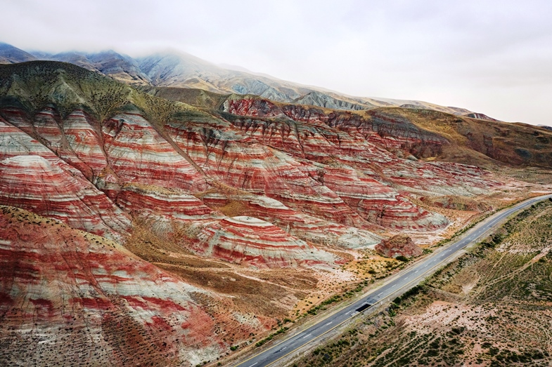 Candy Cane Mountains Khizi Azerbaijan