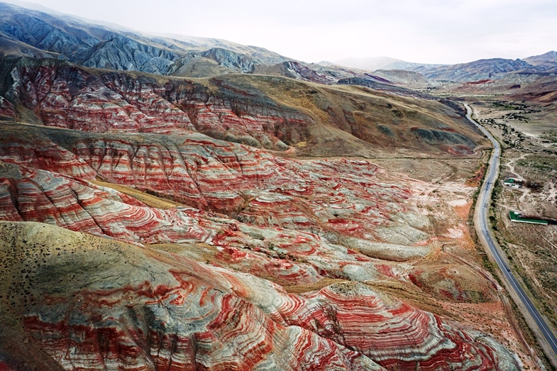 Candy Cane Mountains in Khizi Azerbaijan