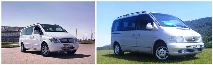 TES Tour Mercedes Vito minivans